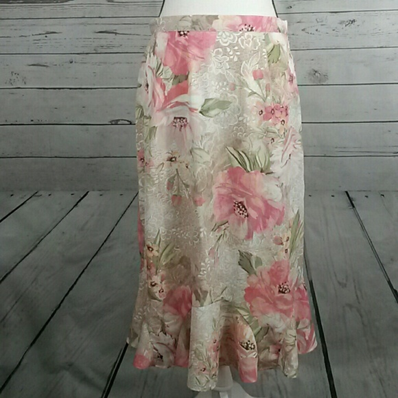291c72727 Alfred Dunner Skirts | Nwt Floral Skirt Size 8 | Poshmark